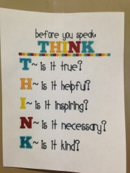 Before you speak-think