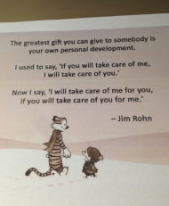 The greatest gift is your owndevelopment